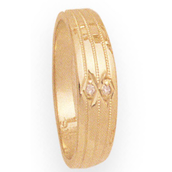 6mm 266D Ladies Tapered Wedding Band