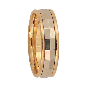 5mm 6T13 Ladies Two-Tone Wedding Band