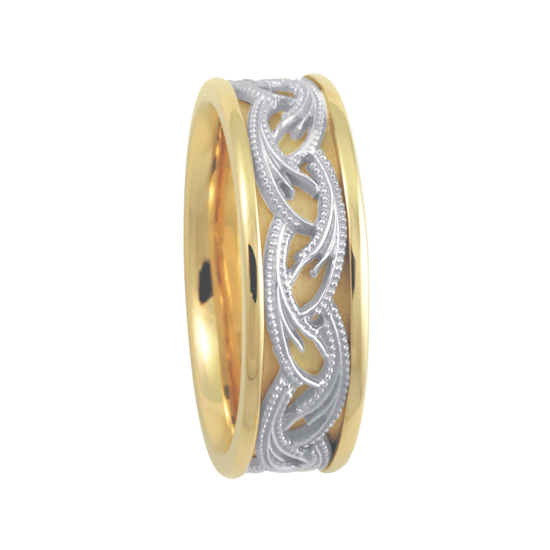 Cadman Catalog 7.5mm 5646 Mens Two Tone Wedding Band