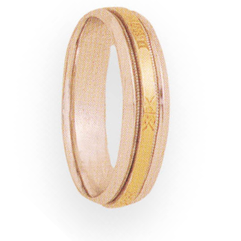 6mm 4T90 Mens Two-Tone Wedding Band