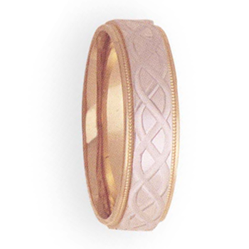 7mm 4T16 Mens Two-Tone Wedding Band