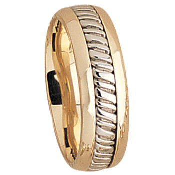 7.5mm 5510 Mens Two Tone  Wedding Band