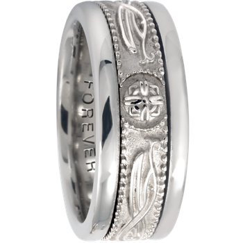 7.5mm 5462 Ladies Celtic Wedding Band