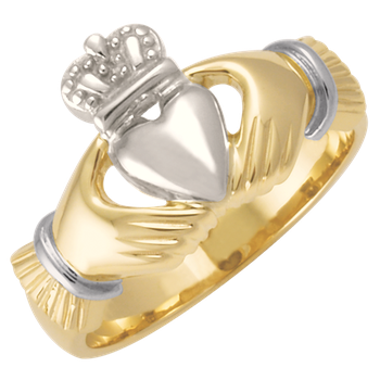 Mens Two-Tone Claddagh Signet CC74