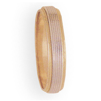5mm 3T56 Mens Two-Tone Wedding Band