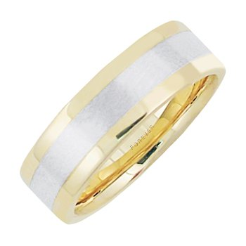 6mm 5T86L Ladies Two-Tone  Wedding Band