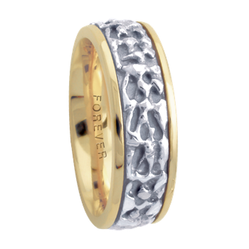 7.5mm 5651 LadiesTwo Tone Wedding Band