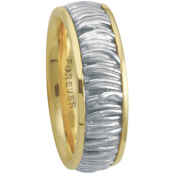 7.5mm 5658 Mens Two Tone Wedding Band