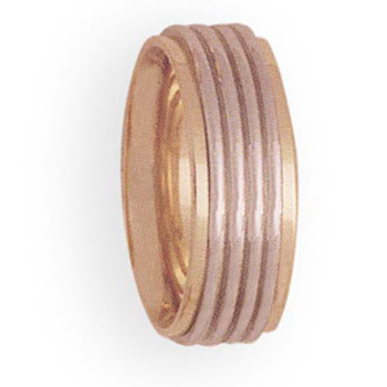 7mm 4T40 Ladies Two-Tone Wedding Band