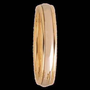 4mm D4T01 Mens Comfort Curve Wedding Band