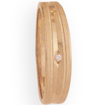 6mm 268D Mens Tapered Wedding Band