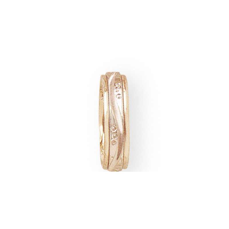Cadman Catalog 5mm D3T58 Ladies Two-Tone, Domed Edge Wedding Band