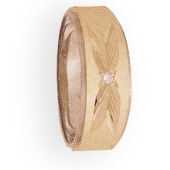 7mm 788D Ladies Two-Tone Tapered Wedding Band