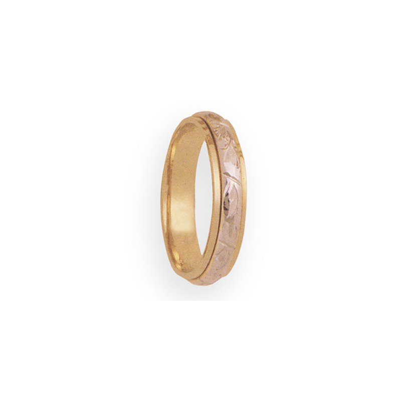 Cadman Catalog 5mm 3T94 Mens Two Tone Wedding Band