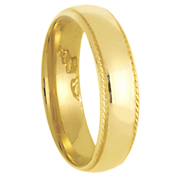6T18A Mens Wedding Band