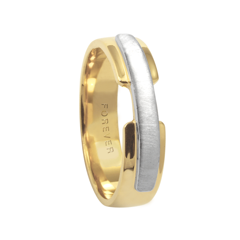 Cadman Catalog 5.5mm 5344 Mens Two Tone  Wedding Band