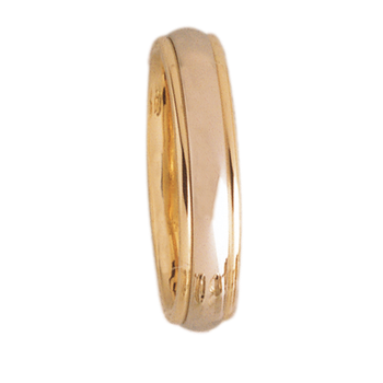 4mm D4T01 Ladies Two-Tone Comfort Curve Wedding Band