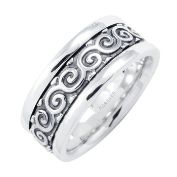 LADIES CELTIC COILS WEDDING BAND
