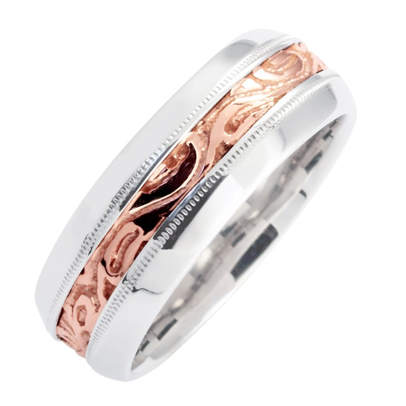 Cadmans MENS TWO TONE WEDDING BAND