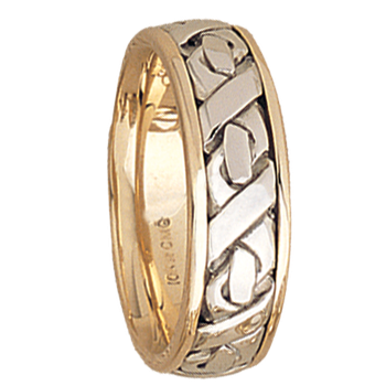 7.5mm 5506 Mens Two Tone Wedding Band