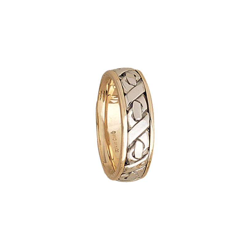 Cadman Catalog 7.5mm 5506 Mens Two Tone Wedding Band
