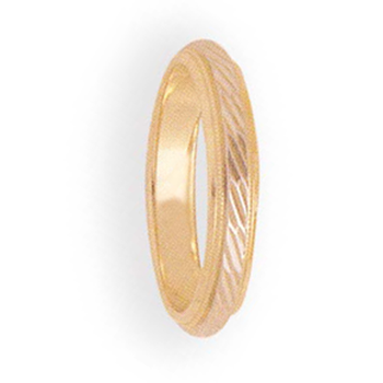 4mm 6T93 Ladies Two-Tone Wedding Band