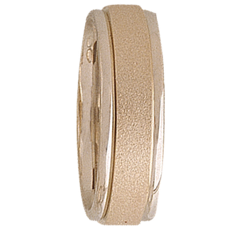 6mm 5T70 Ladies Two-Tone Wedding Band