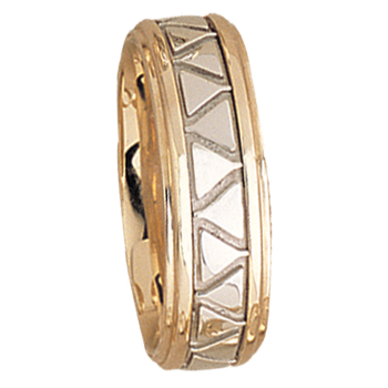 7.5mm 5504 Mens Two Tone Wedding Band