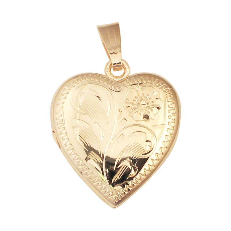 HAND-ENGRAVED HEART SHAPED LOCKET