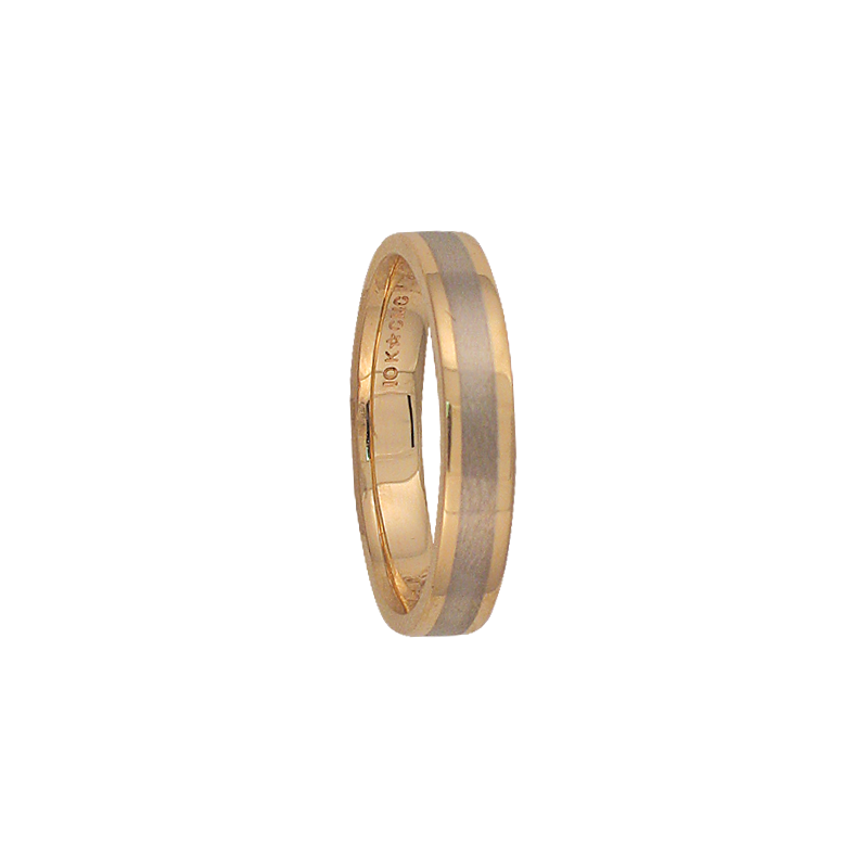 Cadman Catalog 4mm 5T88 Mens Two-Tone Wedding Band