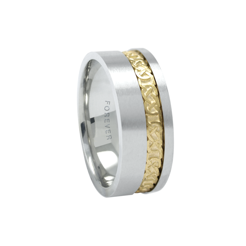 Cadman Catalog 6mm 1T090 Ladies Two-Tone Wedding Band