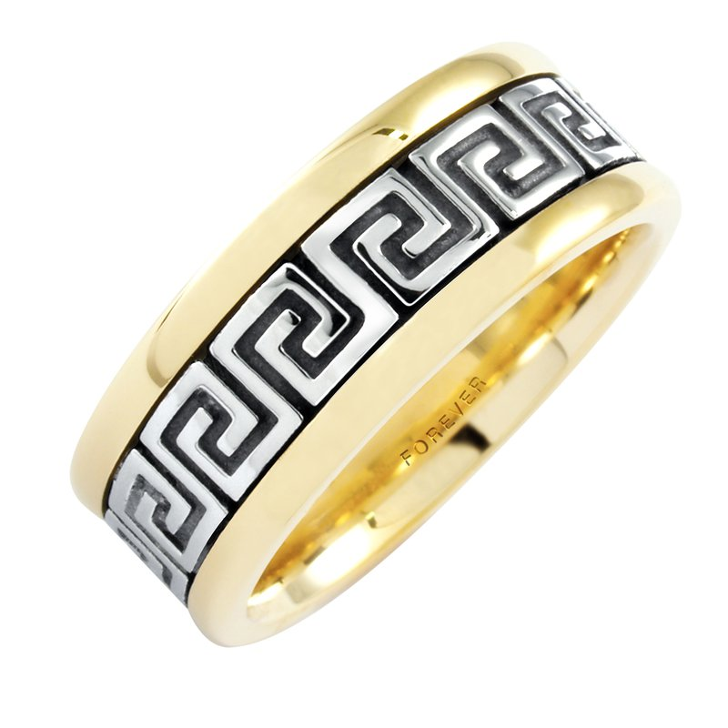 Cadmans Cadman Ladies Celtic Roman Key Wedding Band