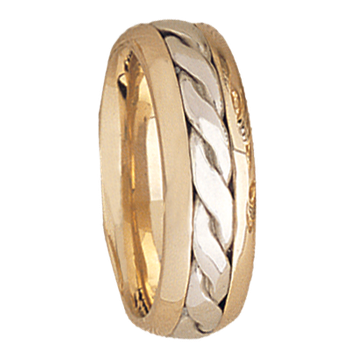 7.5mm 5512 Mens Two Tone Wedding Band