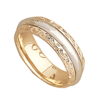 7.5mm 5560 Mens Two Tone Wedding Band
