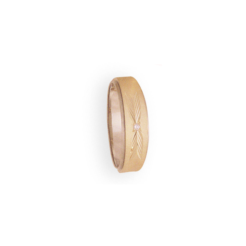 Cadman Catalog 7mm 788D Mens Two-Tone Tapered Wedding Band