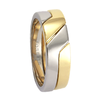 6mm 5779 Ladies Two Tone Wedding Band