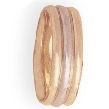 8mm 4T22 Mens Two-Tone Wedding Band