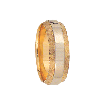 7mm 6T20 Mens Two-Tone Wedding Band