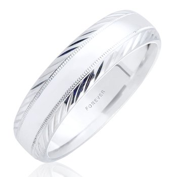 LADIES TIFFANY COMFORT CURVE WEDDING BAND