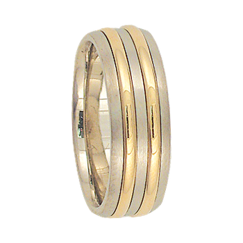 7mm 6T60 Ladies Two-Tone Wedding Band