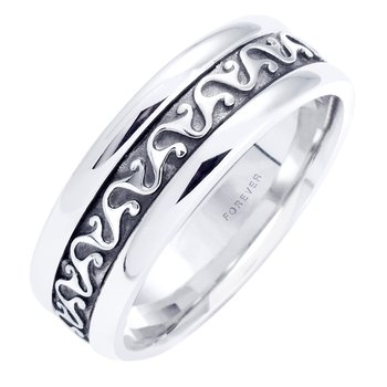 MENS CELTIC SCROLL WEDDING BAND