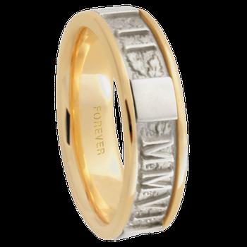 6.5mm 5588 Mens Roman Numeral Band