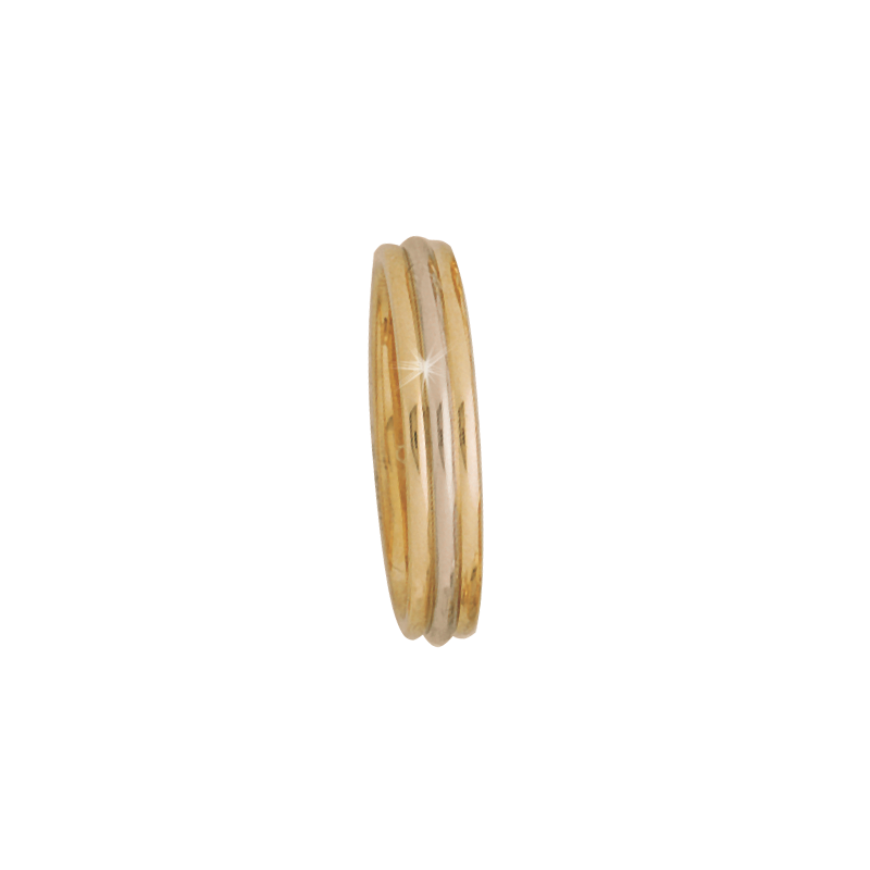 Cadman Catalog 4mm 5266 Mens Two Tone Wedding Band