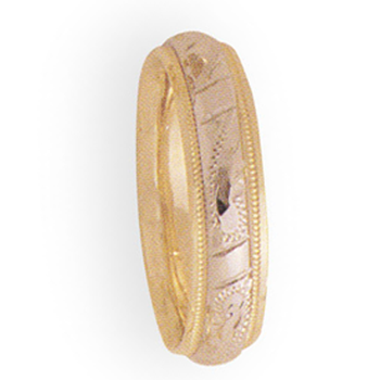 5mm 3T61 Ladies Two Tone Wedding Band