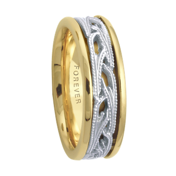 6.5mm 5648 LadiesTwoTone Wedding Band