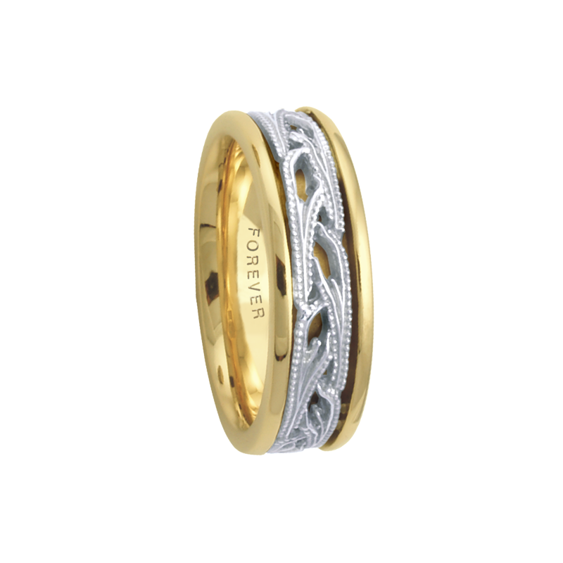 Cadman Catalog 6.5mm 5648 LadiesTwoTone Wedding Band