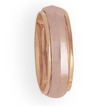 6mm 4T37 Ladies Two-Tone Wedding Band