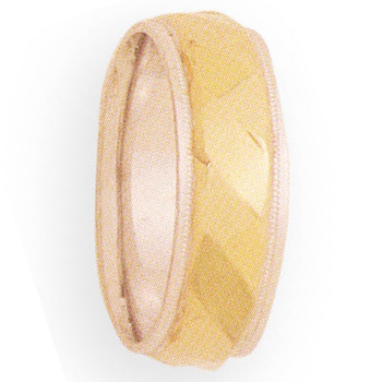 8mm 4T82 Mens Two-Tone Wedding Band
