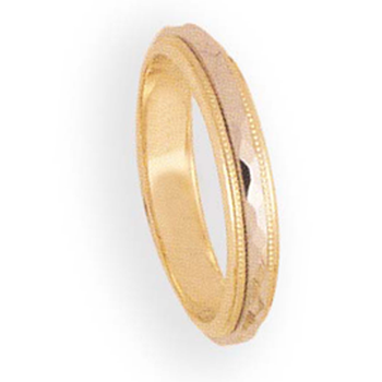 4mm 6T31 Ladies Two-Tone Wedding Band