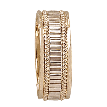 7mm 5T78 Mens Two-Tone Wedding Band